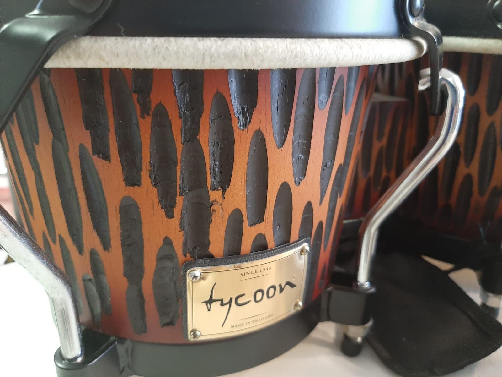 Tycoon 7'' & 8½'' Supremo Select Series Bongos - Chiseled Orange Finish